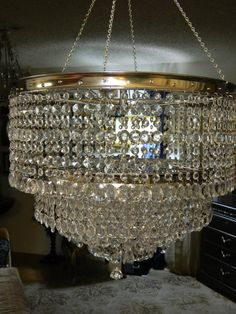 Bicycle Wheel Crystal Chandelier