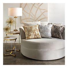 Cuddler Chair from Z Gallerie Glam Living Room, Living Room Chairs, Living Room Decor, Bedroom Decor, Dining Chairs, Dining Room, Lounge Chairs, Sofa Design, Interior Design