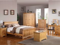 Ideas to Use Grey Bedroom Furniture for the Perfect Interior Designing : Grey Bedroom With Oak Furniture. Grey bedroom with oak furniture. Oak Bedroom Furniture Sets, Bedroom Sets, Home Decor Bedroom, Furniture Design, Light Bedroom, Cheap Furniture, Furniture Stores, Design Bedroom, Master Bedroom