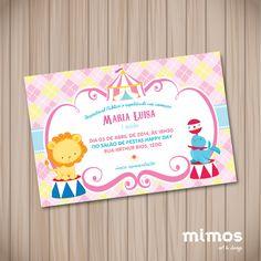 Convite Digital - Circo Rosa