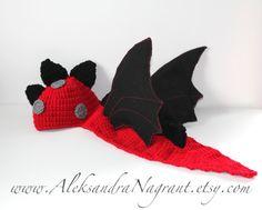 DRAGON/ DINOSAUR Baby Costume  acrylic felted by AleksandraNagrant, $44.00