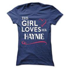 This girl loves her HAYNIE - #gift for girlfriend #bridal gift. WANT => https://www.sunfrog.com/Names/This-girl-loves-her-HAYNIE-ufanbqhcxb-Ladies.html?68278