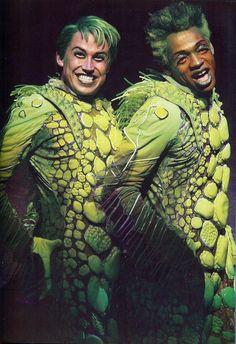 "Tyler Maynard as Flotsam and Derrick Baskin as Jetsam in ""The Little Mermaid"""