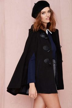chic + cozy cape, love this cape! Perfect for my adventure going from work to school.