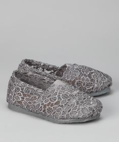 Take a look at this Shoes of Soul Gray Crocheted Slip-On Shoe on zulily today!