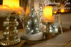 Christmas Jars - 5 Minute Centerpiece - All Things Heart and Home