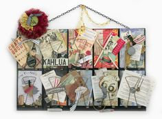 7gypsies vintage receipt holder is filled with kept menus, a fortune, recipes and all things we love about food.  Perfect holder for take out menus #Epicurean - created by Shaela for 7gypsies