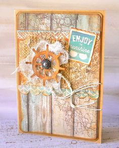 Sandy Toes Card by Kaisercraft Design Team.~ Cards ~ Clean & Simple.