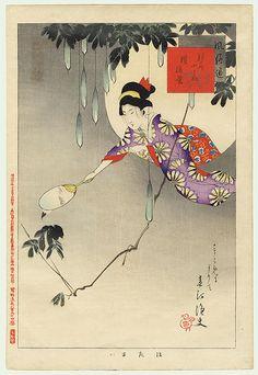Catching Fireflies by Shuntei (1873 - 1914)