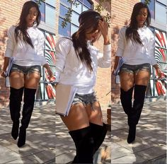 minnie dlamini hot pants and boots - Google Search