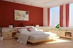 Best Bedroom Colors for Sleep. There are various kinds of bedroom paint colors that you are able to choose. However, all of us have a specific style and taste and choose paint colors based on the color they such as the most. Popular Bedroom Colors, Bedroom Colors Purple, Bedroom Red, Bedroom Paint Colors, Bedroom Color Schemes, Trendy Bedroom, Bedroom Decor, Paint Schemes, Paint Colours