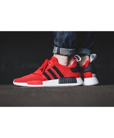 huge discount c2125 3c587 Adidas NMD R1 Core Red Black Trainers Adidas Nmd R1, Adidas Men, Adidas  Sneakers
