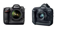 NIkon D4 and the Canon EOS-1D X