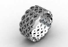 Unlike Anything you have Ever Seen 14k White Gold New by VOLISA