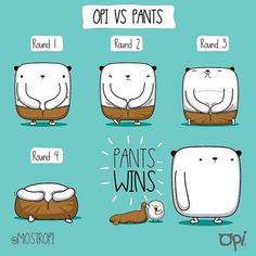 Opi vs Pants #opi #kipi #cute #kawaii #mostropi #ilustración #pants #fight | por OSCAR OSPINA STUDIO
