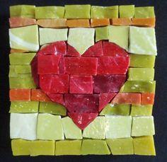 heart mosaic smalti - Google Search