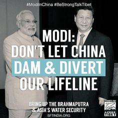 #ModiInChina #SaveTibetanRivers