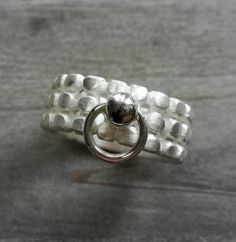"Bandringe - Ring der O Silberring  ""O´s"" Ring Silber - ein Designerstück von Anja-und-Denise bei DaWanda Ring Der O, Latex, Wedding Rings, Etsy, Engagement Rings, Silver, Jewelry, Style, Handmade Gifts"