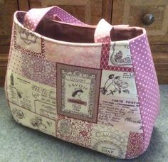 Ethel tote bag, another views this useful bag has a zipped inside pocket and an open pocket corresponding to the pocket on the outside.