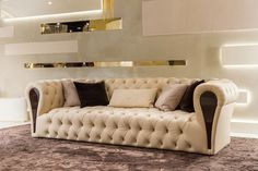 Mayfair Collection www.turri.it Luxury italian capitonné sofa