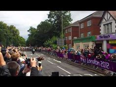 Olympic Women's Cycle Road Race West Byfleet 29th July (courtesy of my wife's You Tube channel)