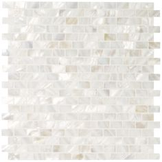 White Rectangle - Mother of Pearl Mosaics - Wall & Floor Tiles | Fired Earth