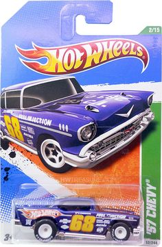 "from the 2011 Treasure Hunt series. The Chevy features dark blue paint, the Hot Wheels logo and ""TH"" on the sides, on the roof and sides, H. Custom Hot Wheels, Hot Wheels Cars, Carros Hot Wheels, Hot Wheels Storage, Toys R Us Kids, Hot Wheels Treasure Hunt, Matchbox Cars, Automobile, City Car"