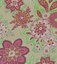 Home Decor Fabric-Annie Selke Shalini/Har Taupe/Raspberry: home decor fabric: fabric: Shop | Joann.com