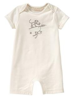 Organic embroidered one-piece | babyGap