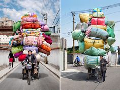 """French photographer Alain Delorme, recorded in his series """"Totems"""" - can't be true!"""