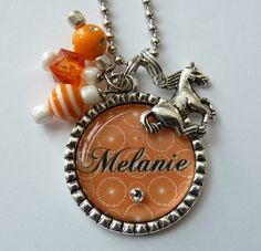 Personalized Bottle cap Necklace birthday party horse by TrendyTz, $20.99