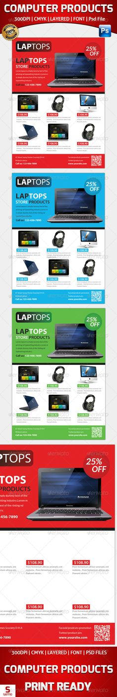 Computer Products Flyer Template  #GraphicRiver         Computer Products Flyer…