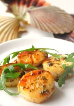 Coquilles Saint-Jacques (scallops) season in Normandy is fall when they are fresh from the sea.