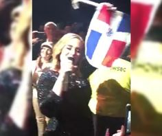 Video De Adele Cantando Con La Bandera Dominicana #Video