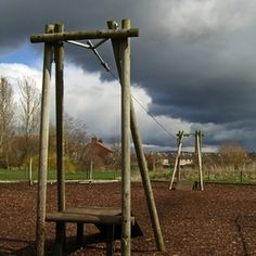 How Do I Build a Playground Area With Landscape Timbers?
