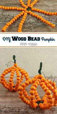 Looking for a fall craft project? Maybe one with a farm-style look? I am going to show you how to make this DIY wood bead pumpkin! Easy Fall Crafts, Crafts To Do, Crafts For Kids, Country Fall Decor, Fireworks Craft For Kids, Craft Projects, Craft Ideas, Pretty Halloween, Amazing Crafts