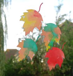 Autumn is well and truly here so we thought we needed some autumn leaves on our windows. We decided to make them with the bleeding tissue paper method. My kids always love doing this. Fun Writing Activities, Autumn Activities For Kids, Bee Poem, Leaf Template, Autumn Crafts, Cool Writing, Some Cards, Autumn Leaves, Fireworks
