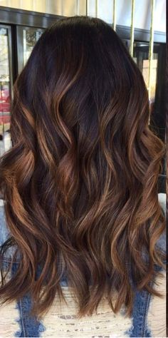 62 Trendy Hair Color Cuivre Balayage Highlights - All For New Hairstyles Dark Brunette Hair, Brown Blonde Hair, New Hair Colors, Hair Color For Black Hair, Balayage Highlights, Balayage Hair, Color Highlights, Braids For Short Hair, Ombre Hair
