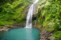 Waterfalls are everywhere throughout The Islands of Tahiti. Found this one after a long trek through thick jungle on the big island of Tahiti. Family Destinations, Big Island, Tahiti, Need To Know, Underwater, Trek, Places, Outdoor, Waterfalls