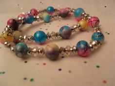 Mother ./ Daughter / Stretch Bracelets by OhEdith on Etsy, $9.00