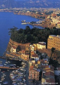 Sorrento, Italy (1 of our honeymoon spots): I can see our hotel from here!