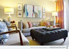 Idéias para decorar sala pequena. Comece visualizando bem o ambiente.   Móveis menores disfarçam a falta de espaço. Não adianta coloca...