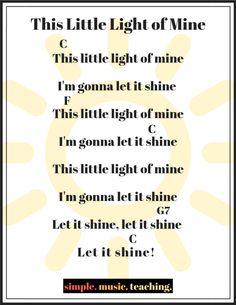 """This Little Light of Mine"" chord sheet for beginner ukulele players+ 3 more Black History Month ukulele songs! This Little Light of Mine chord sheet for beginner ukulele players+ 3 more Black History Month ukulele songs! Ukulele Songs Popular, Easy Ukelele Songs, Ukulele Songs Beginner, Guitar Songs For Beginners, Hawaiian Ukulele Songs, Ukulele Chords Disney, Guitar Chords For Songs, Uke Songs, Music Chords"