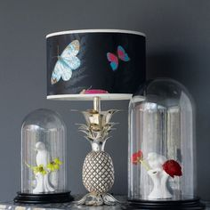 Pineapple Table Lamp Base - would choose a different shade.