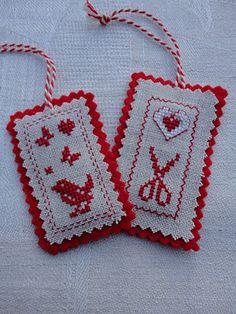 cross stitch labels