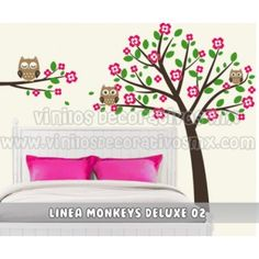 Vinilos infantiles y vinilos para bebes Decorativo Infantil  Arbol y Rama con Buhos http://VinilosDecorativosMX.com