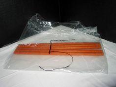 "Lot of 5 Hasbro Tinkertoy Construction Set, 10"" Orange Stick Peg Rod Piece Parts #Hasbro"