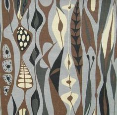 "Stig Lindberg fabric ""Bulbous"" designed in 1947 and reprinted"