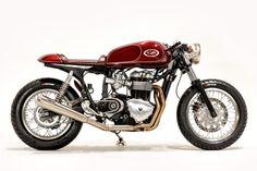 Triumph Thruxton by Kott Motorcycles right side profile still