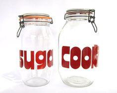 Vintage Canister Set: Sugar & Cookies